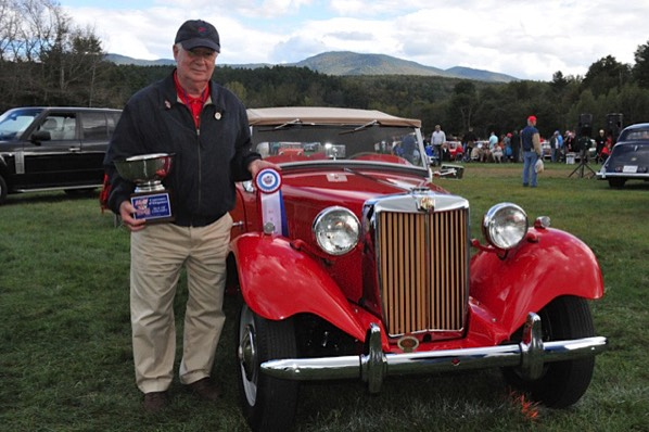 Mike Jones and his top point 1950 MG TD