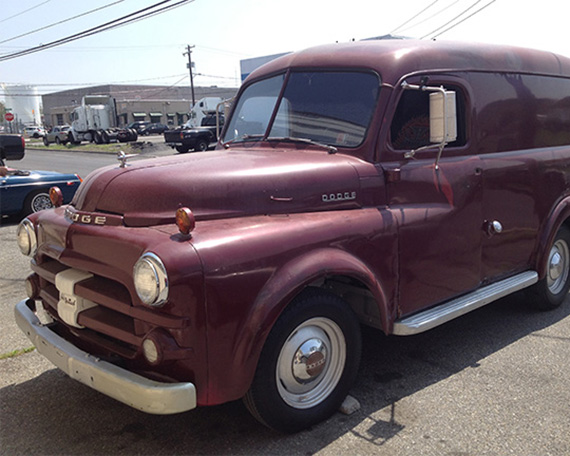 1952 Dodge panel truck, in for some minor repair