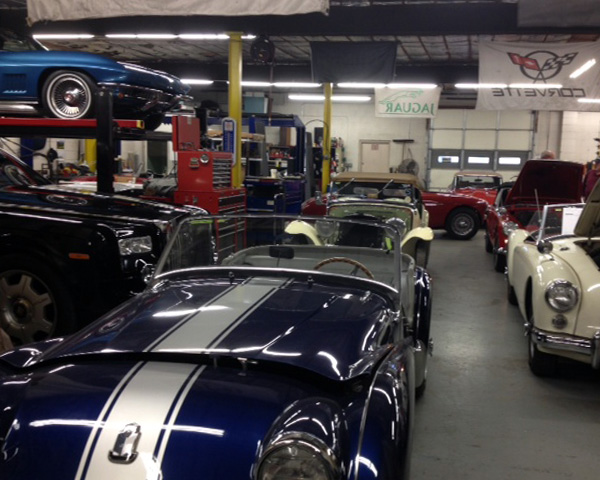 Beautiful TR3, a modern Rolls-Royce, Corvette Sting Ray, and all kinds of MGs