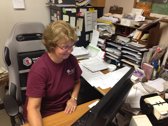Cindy Beck manages the bookkeeping at K&T Vintage.